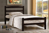 MELVILLE SOLIDWOOD SINGLE BED $139 MATTRESS $38 IN STOCK
