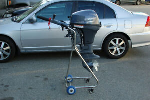 Boat motor dolly cart  outboard stand