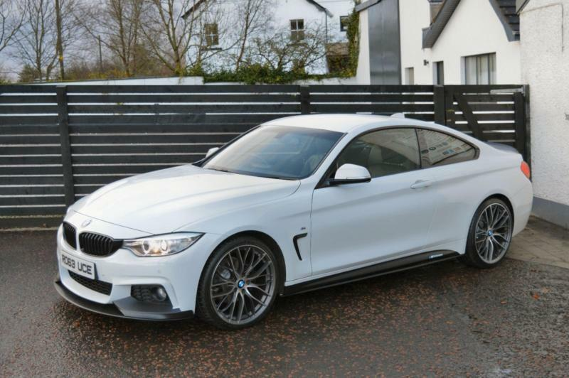 "2013 BMW F32 420D M SPORT ALPINE WHITE FBMWSH PERFORMANCE KITTED 20"" (320D A5)"