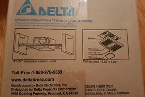 Delta Ventilation Fan/Light/Heater - NEW - Still in Box London Ontario image 3