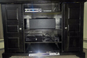 Large Size Black Wooden TV Stand For Sale