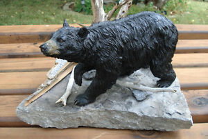 3-D Hand Crafted Black Bear Table Sculpture Belleville Belleville Area image 9
