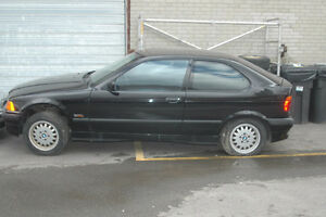 C BMW e36 318ti 1996 M44 4 cylinder with PP hatchback Black on T