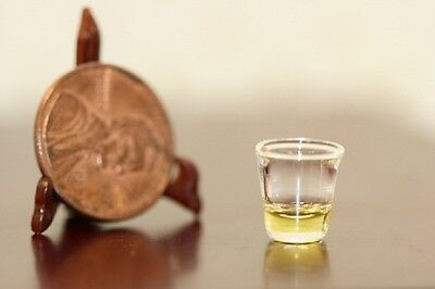 Dollhouse Miniature Filled Glass of Whiskey by Phil Grenyer