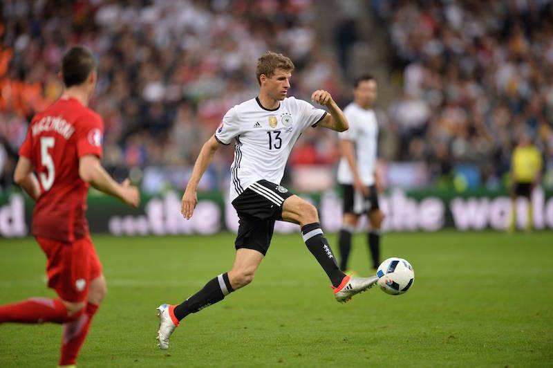 Garant für Tore und gute Laune im Team. Thomas Müller im X 16.1 von Adidas. (Bild: Imago)