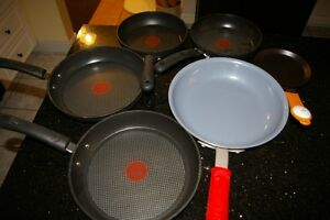 6 Brand new non-stick frying pans