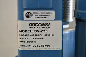 GOODWAY DV-Z75 Heavy Duty Continuous Vacuum Cambridge Kitchener Area image 3