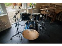 Tama Superstar'Fusion' Drum Kit +Hardware (cymbals not included-see other listing)