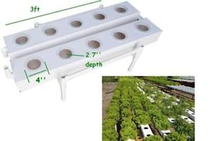 Double Row Square Style 80mm Diameter Hydroponic 10 Plant Site Grow Kit#141079