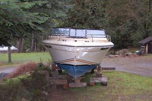 "21' 6"" Fiberglass project boat"