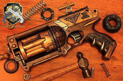 STEAMPUNK Firearm Vintage WASTELAND Revolver Gun Cosplay Comic Con