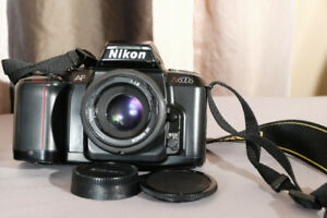 Nikon film camera and lens + free film