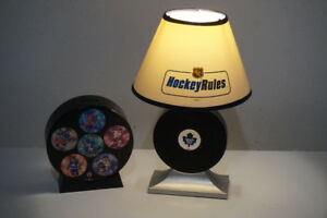 Toronto Maple Leafs bedside lamp and NHL Coin Bank