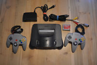 CONSOLE NINTENDO 64+MEMORY CARD+2 MANETTES