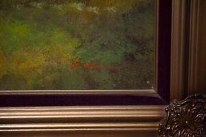 magnifique peinture ( toile ) antique signée West Island Greater Montréal image 4