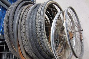 bike parts, tires, rims
