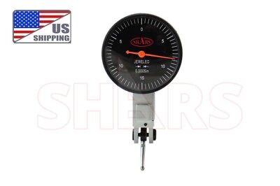 Shars Precision 1.5 Black Face Dial Test Indicator Set 0-15-0 .030 .0005 New