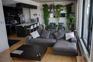 Condo à louer semi-meublé au 8e étage à 2 pas du métro Rosemont