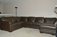 Beautiful All Leather Sectional