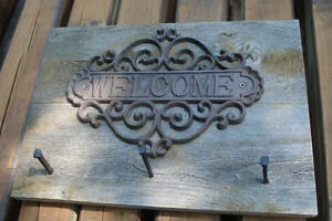 Rustic Barn Board Coat Rack - WELCOME sign Kingston Kingston Area image 4