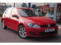 2013 VOLKSWAGEN GOLF 1.6 TDI 105 SE GBP0 TAX, NAV, FULL HTD LEATHER and DAB