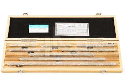 8pc As-0 Grade Long Large Steel Gage Block Set 5 To 20 W Nist Certificate R