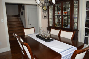 Dining Room Table and Buffet & Hutch Set