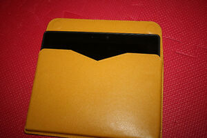 "Valextra yellow leather envelope case case for 7"" tablets"