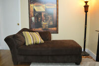 Coffee brown lounger couch