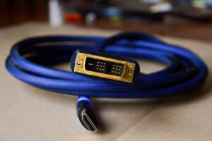 Monster-HDMI to DVI Adapter DVI to HDMI Audio Video Cable 8FT
