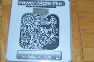 Portable backup battery for iphone 3GS/4/4S