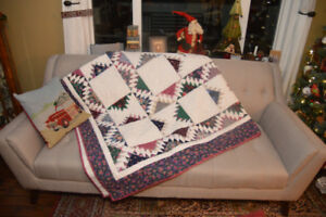 Warm up your Christmas with a handmade Queen/King quilt