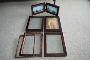 Floating picture frames $5/$4 dual glass
