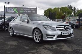 2012 12 MERCEDES-BENZ C CLASS 2.1 C220 CDI BLUEEFFICIENCY AMG 4D AUTO 168 BHP DI
