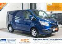 2014 64 FORD TRANSIT CUSTOM 2.2 270 LIMITED LR P/V 124 BHP DIESEL PANEL VAN BLUE