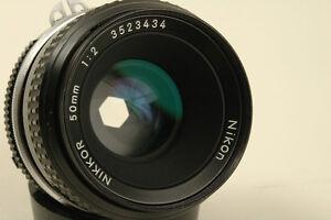 Nikon Nikkor 50mm f2 ai Manual lens