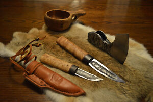 Hand forged Siberian Yakut knife (knives)