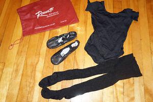Vêtements de ballet noirs 6X à 8