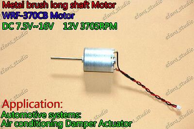 Dc 8-16v 12v 3705rpm Large Torque Long Shaft Low Noise Metal Brush 370 Dc Motor