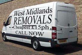 Cheap Man and Van Hire £15ph Reliable Removals Services Call NOW