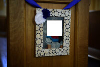 """Rustic Wedding table number frames or aisle ends 5""""x7"""""""