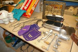 Collectables, appliances, cookware, toys