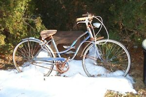 yard decor vintage bike