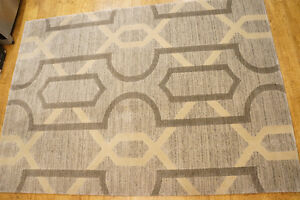 """NEW AREA RUGS- 7ft x 5ft 3""""- Neutral Colours-tan/grey- 2 options"""