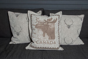 Set of 3 Feather Filled Pillows