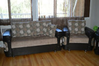BEAUTIFULCOUCH SOFA DIVAN COMPLETE 3 + 2 + 1 NEW CONDITION CHEAP