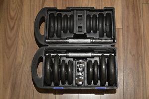 Haltères / Dumbell set - 40 pounds