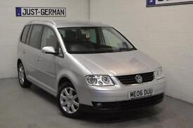 2006 VOLKSWAGEN TOURAN 2.0 FSi SE Petrol Auto, 7 Seater People Carrier LOW MILES