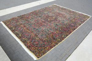 Antique Kerman Golden Lavar Persian Carpet