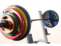 New Olympic bar & weighted plates